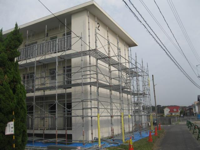 宇部市 アパート外壁塗装工事画像1